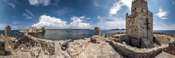 Festung von Methoni in 360 Grad